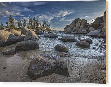 Sand Harbor II Wood Print