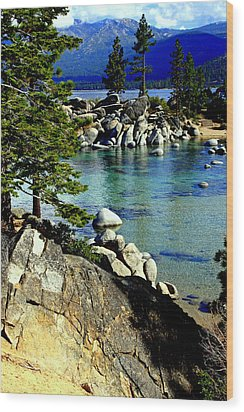 Sand Harbor Morning Wood Print by Lynn Bawden