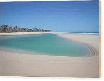 Sand Island Paradise Wood Print