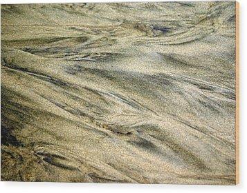 Sand Pattern Wood Print by Marty Koch