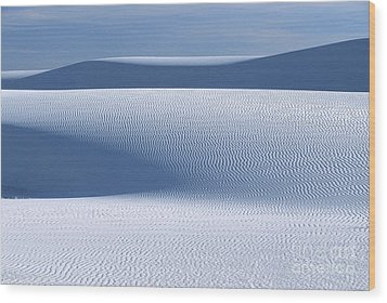 Sand Patterns Wood Print by Sandra Bronstein