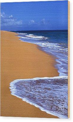 Sand Sea Sky Wood Print by Thomas R Fletcher