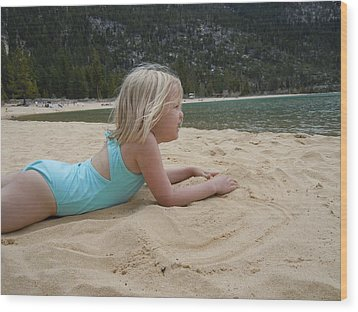 Wood Print featuring the photograph Sand Sun And Someone You Love by Dan Whittemore