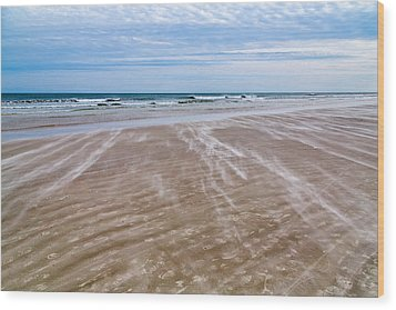 Wood Print featuring the photograph Sand Swirls On The Beach by John M Bailey