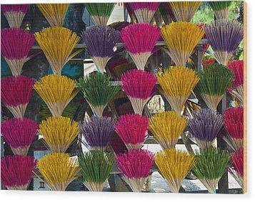 Sandalwood Incense Sticks Wood Print by Rob Hemphill