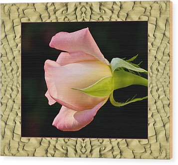 Wood Print featuring the photograph Sandflow Rose by Bell And Todd