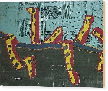 Sandia Cottonwood The Mantid Wood Print by Ray  Petersen