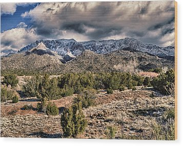 Wood Print featuring the photograph Sandia Mountain Landscape by Alan Toepfer