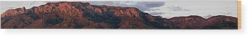 Sandia Sunset Panormaic Wood Print