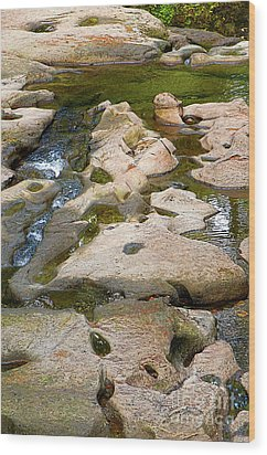 Wood Print featuring the photograph Sandstone Creek Bed by Sharon Talson