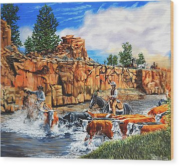 Sandstone Crossing Wood Print