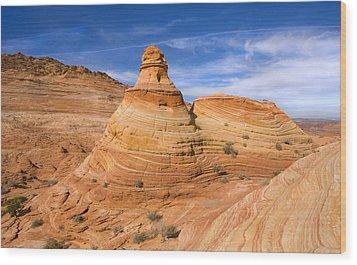 Sandstone Tent Rock Wood Print by Mike  Dawson