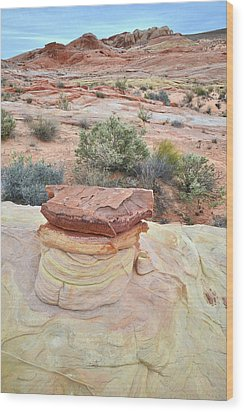 Wood Print featuring the photograph Sandstone Toadstool In Valley Of Fire by Ray Mathis