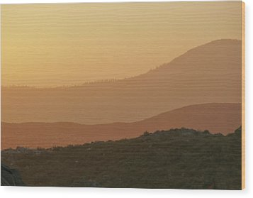 Sandstorm During Sunset On Old Highway Route 80 Wood Print by Christine Till