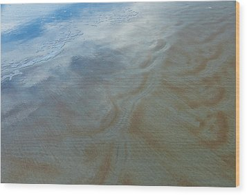 Sandy Beach Abstract Wood Print by Carolyn Marshall