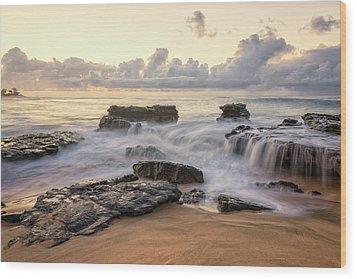 Sandy Beach Sunrise 3 - Oahu Hawaii Wood Print by Brian Harig