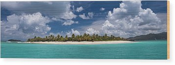 Wood Print featuring the photograph Sandy Cay Beach British Virgin Islands Panoramic by Adam Romanowicz