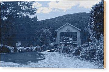 Sandy Creek Covered Bridge Wood Print