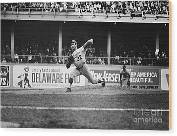 Sandy Koufax (1935- ) Wood Print by Granger
