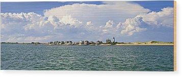 Sandy Neck Cottage Colony Wood Print by Charles Harden