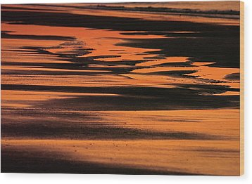 Sandy Reflection Wood Print