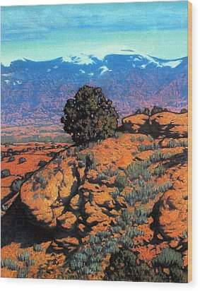 Sangre Dechristos Wood Print by Kevin Lawrence Leveque