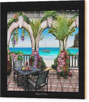 Sangria Beach Wood Print by Michael Cleere