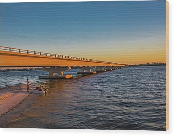 Wood Print featuring the photograph Sanibel Causeway IIi by Steven Ainsworth