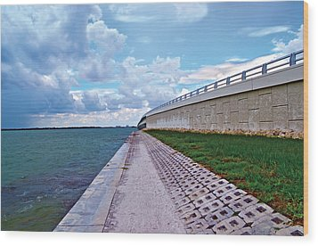 Wood Print featuring the photograph Sanibel Island Bridge by Timothy Lowry