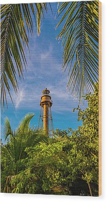 Sanibel Lighthouse Wood Print by Steven Ainsworth