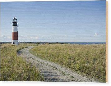 Sankaty Head Lighthouse, Nantucket Wood Print by Jack Flash
