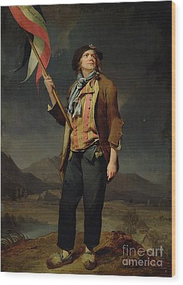 Sans Culotte Wood Print by Louis Leopold Boilly