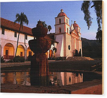 Santa Barbara Wood Print by Timothy Bulone