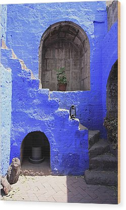 Wood Print featuring the photograph Santa Catalina Monastery, Arequipa, Peru by Aidan Moran