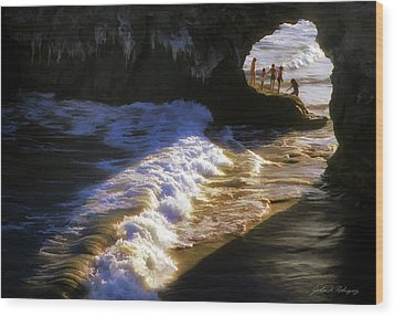 Santa Cruz 'bridge' California Coastline Wood Print by John A Rodriguez