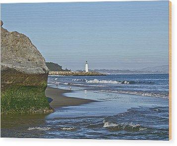 Santa Cruz Coastline - California Wood Print by Brendan Reals