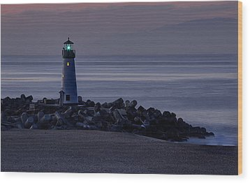Walton Lighthouse Early Morning Wood Print