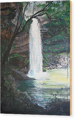 Santa Emelia Waterfall Wood Print