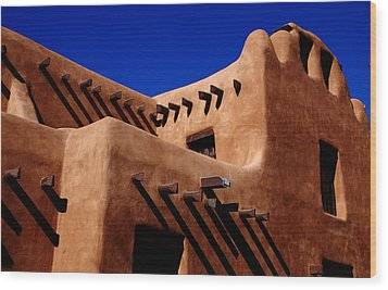 Wood Print featuring the photograph Santa Fe Adobe by Kathleen Stephens