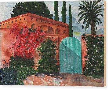 Santa Fe Dwelling Wood Print by Sharon Mick