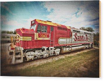 Santa Fe Locomotive Wood Print by Charrie Shockey