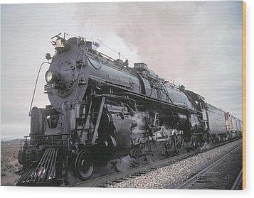 Santa Fe No 3751 North Edwards California Wood Print