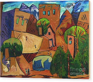 Santa Fe On My Mind Wood Print by Charlie Spear