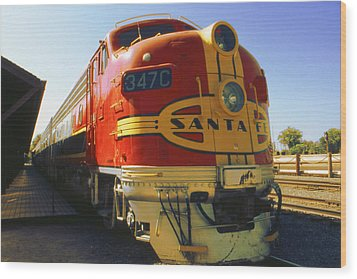 Santa Fe Railroad Wood Print by Art America Gallery Peter Potter