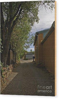 Santa Fe Road Wood Print by Madeline Ellis
