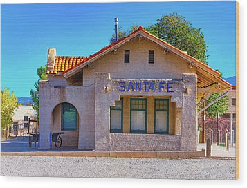 Wood Print featuring the photograph Santa Fe Station by Stephen Anderson