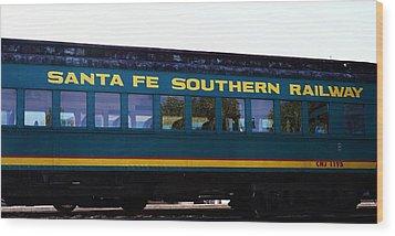 Santa Fe Train Wood Print