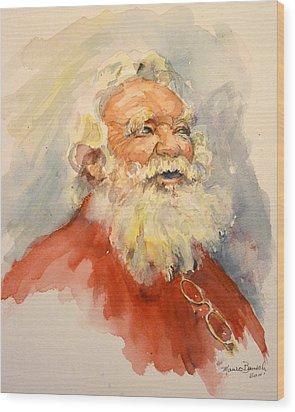 Santa Is That You Wood Print