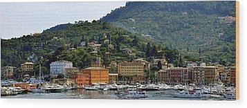 Wood Print featuring the photograph Santa Margherita Ligure by Corinne Rhode