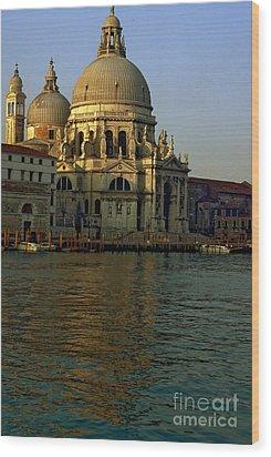 Santa Maria Della Salute In Venice In Morning Light Wood Print by Michael Henderson